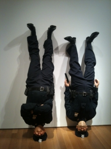 Frank and Jamie by Maurizio Cattelan (2002)