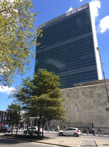 United Nations building as seen from 1st Avenue